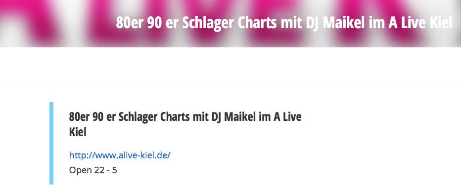80er 90er Party DJ Maikel